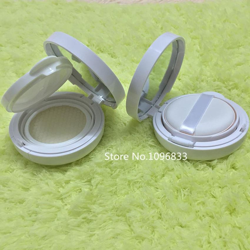 Empty Liquid Foundation Case BB Cream Air Cushion Box Round Air Cushion CC Cream Case BB Cream De Colchon De Aire White Color chanel 5ml cc cc cream
