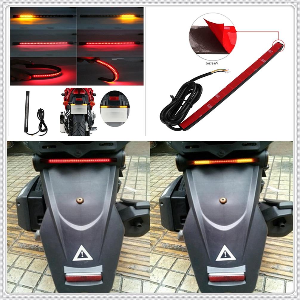 Motorcycle LED Tail Lamp Plate Light Brake Stop Turn Signal Strip For  Moto Guzzi V7 Classic RaceR Stone Special BobbeR