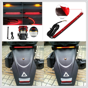 Image 1 - Motorcycle LED Tail lamp Plate Light Brake Stop Turn Signal Strip for  Moto guzzi V7 Classic RaceR Stone Special BobbeR