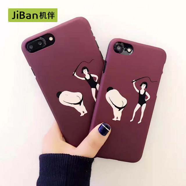 Jiban Funny Cartoon Sexy Men Couple Phone Cases For Iphone -8494