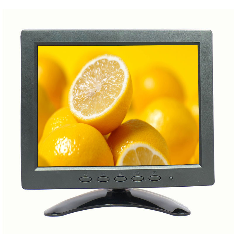 8 inch lcd monitor 1024*768 8 inch usb monitor mini desktop hdmi monitor with AV/BNC/VGA/HDMI/USB interface