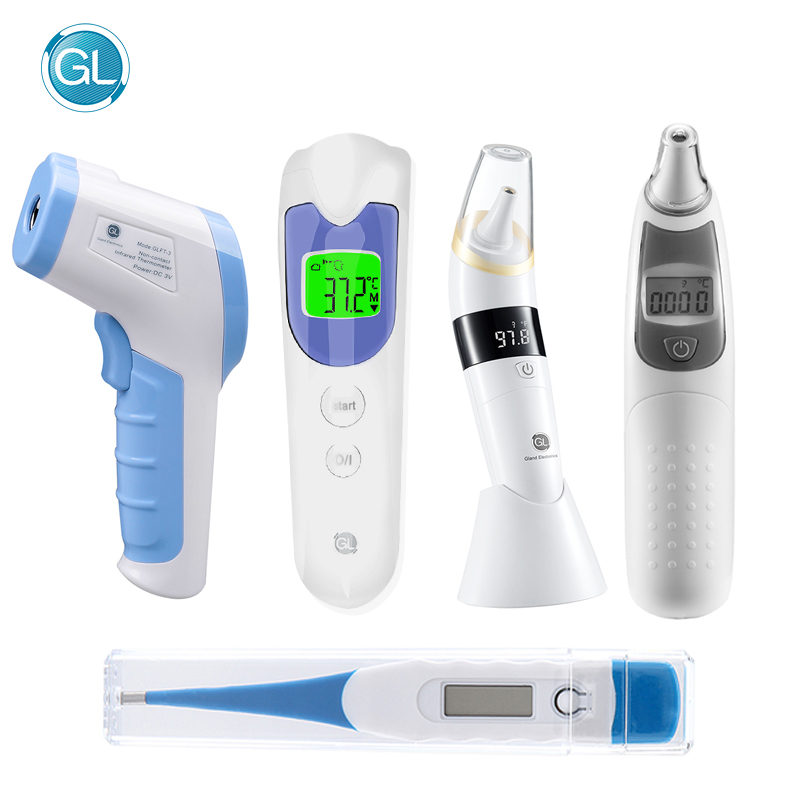 GL Digital-Thermometer Forehead Baby Adult Body Non-Contact Ear LCD title=