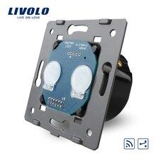 Livolo Estándar de LA UE, Interruptor del tacto A Distancia Sin Panel de Vidrio, 2 Cuadrillas 2 Manera, AC 110 ~ 250 V + Indicador LED, VL-C702SR