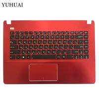 New Russian Laptop Keyboard for Asus X450 X450C X450CA X450CC X450CP X450L X450LA Red keyboard With Palmrest Upper Cover