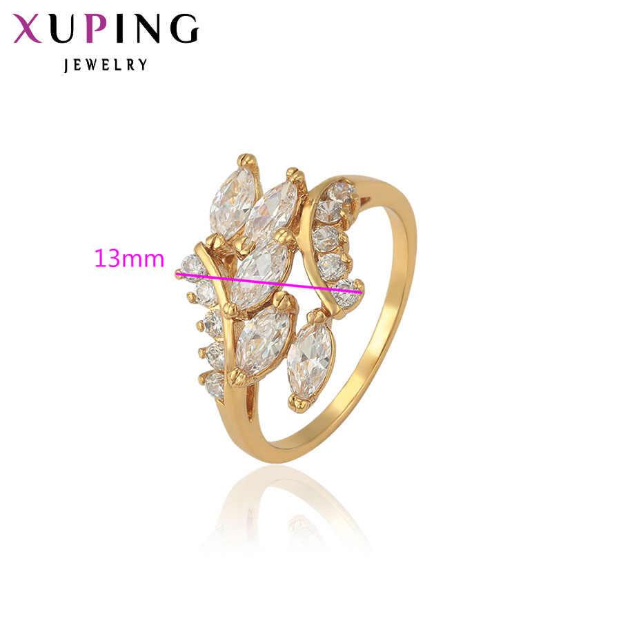 Xuping Elegante Ringe Europäischen Stil Bunte Gold Farbe Überzogen Charme Schmuck Weihnachten Geschenk für Frauen S24, 1's S36, 1-11372
