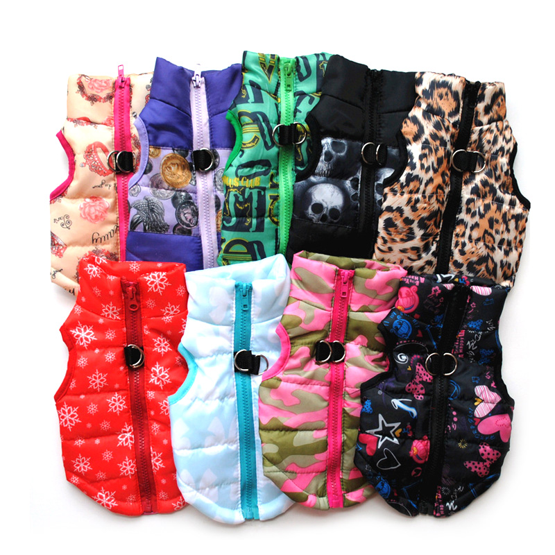 Winter Dog Jacket Pet Dog Clothes Waterproof Dog Vest For Small Medium Dogs Puppy Dog Coat Warm Chihuahua Clothing Apparel 25