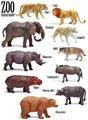 Бесплатная доставка хорошего качества Имитационной модели дикие животные игрушки тигр GNU ЛЕОПАРД НОСОРОГ ВОЛК ЛЕВ БЕГЕМОТА ЗУБРОВ СЛОН