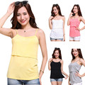 New Arrival Cotton Baby Maternity Nursing Tops Breastfeeding Vest T-Shirt Free shipping LD789
