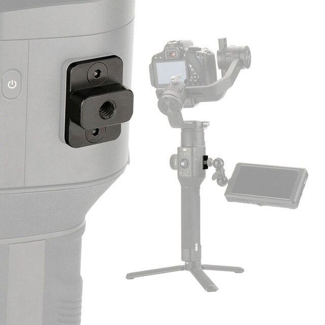 מצלמה צג הרכבה צלחת וידאו הארכת מתאם עבור DJI ללא מעצורים S Gimbal Extender מייצב עם 1/4 בורג עבור קסם זרוע מיקרופון