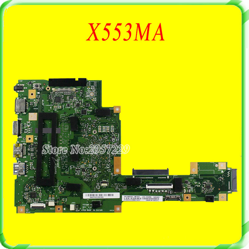 все цены на  FOR ASUS Motherboard A553M A553MA D553M F553M F553MA K553M X503M X503MA F503MA X553M X553MA REV2.0 Mainboard Tested 100% work  онлайн