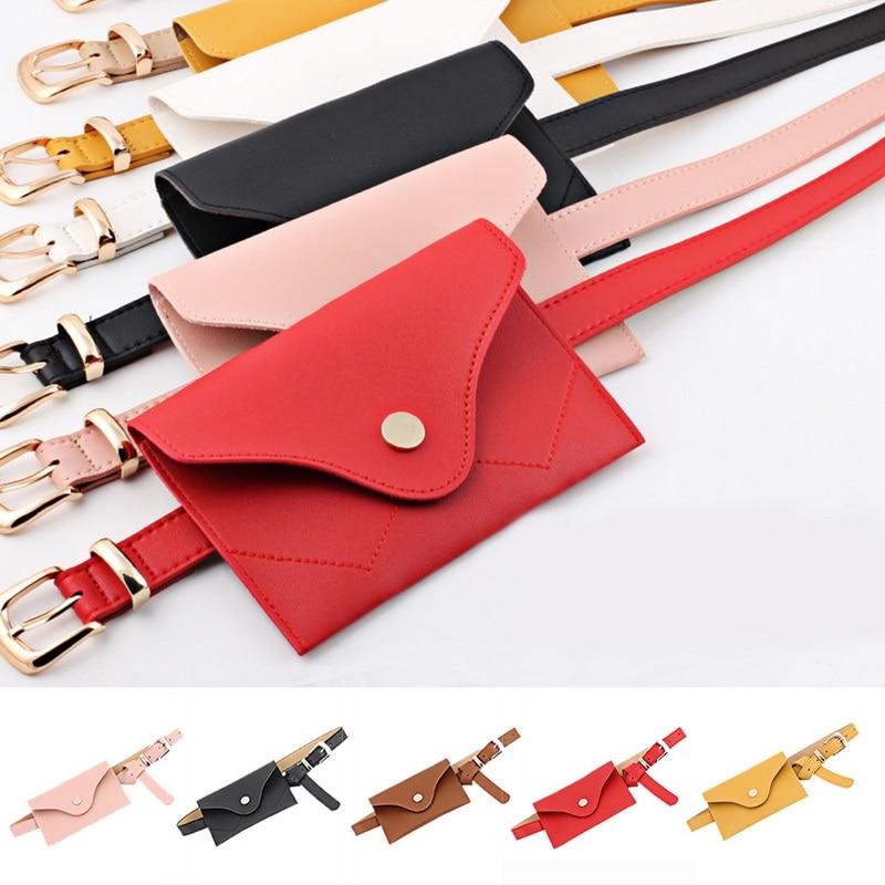 Ausdrucksvoll Adisputent Frauen Casual Telefon Gürtel Tasche Frauen Mode Mini Reine Farbe Leder Messenger Tasche Schulter Tasche Brust Tasche