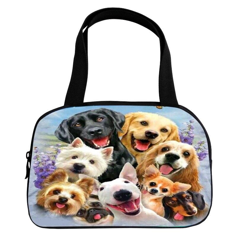 Cute Hot Sale Oxford Printing 3D Kids Baby Bags Animal Pet Dog Ladies Handbag for Teenager Girls Handle Bag for Women Casual Bag
