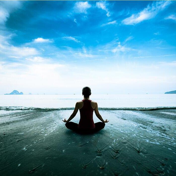 yoga spa silk wallpapers walls covering mural sky sea