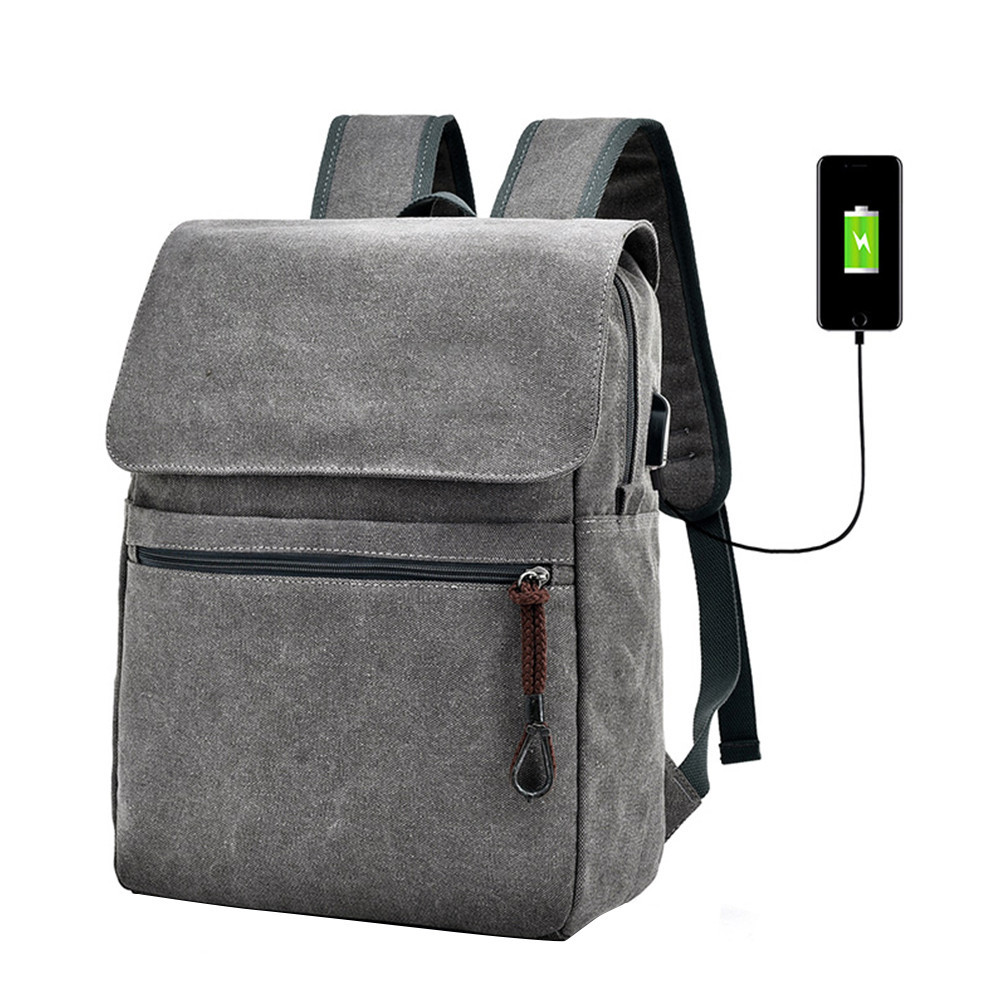 Canvas Men's Anti Theft Backpack Bag USB Charge 15 Inch Laptop Notebook Backpack For Men Waterproof Travel Back Pack Bags 10.12 kingsons waterproof 15 6 inch notebook laptop backpack men mochila male travel school bag back pack school backpack bag