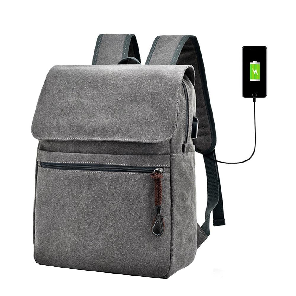 Canvas Men's Anti Theft Backpack Bag USB Charge 15 Inch Laptop Notebook Backpack For Men Waterproof Travel Back Pack Bags 10.12 new design light slim backpack men lightweight 15 inch laptop notebook backpacks women waterproof business anti theft backpack