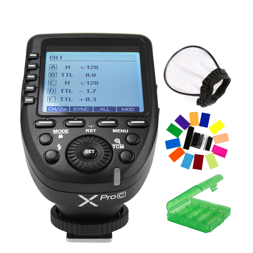In Stock! Godox XPro-C Flash Trigger Transmitter with E-TTL II 2.4G Wireless X System HSS LCD Screen for Canon DSLR Camera yn e3 rt ttl radio trigger speedlite transmitter as st e3 rt for canon 600ex rt new arrival