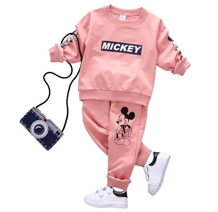 HTB1skiOXZfrK1Rjy0Fmq6xhEXXaq - Disney Mickey Boy Clothes Cartoon Bear Long Sleeved T-shirt Tops Pants Baby Girl Outfits Infant Clothing Kids Bebes Jogging Suit