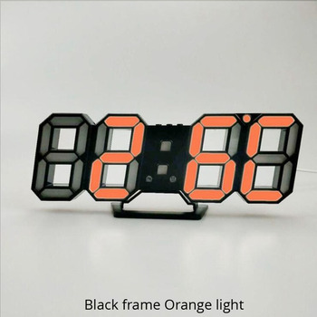 3D LED Wall Clock Modern Design Digital Table Clock Alarm Nightlight Saat reloj de pared Watch For Home Living Room Decoration 12