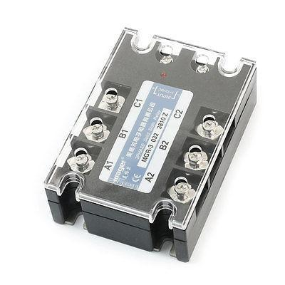 цена на DC/AC 3-32V 380V 10A 6 Screw Terminal 3-Phase Clear Cover Solid State Relay