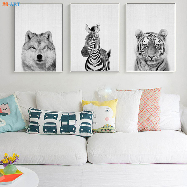 Baby Animals Art Print Poster Safari Wall Pictures Canvas Painting Kids Room Decor Nursery