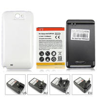 High Capacity 6500mah Replacement Battery Wall Charger For Samsung Galaxy Note 2 II N7100 GT N7100