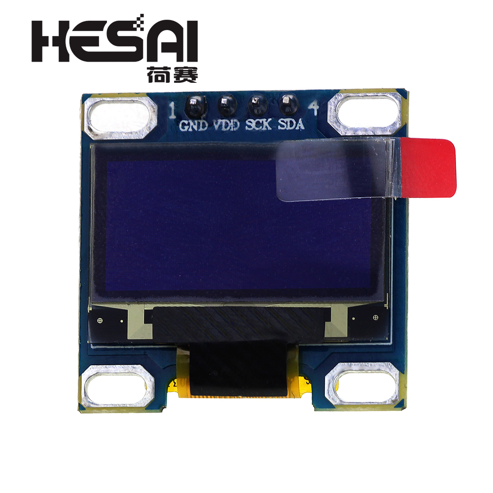 0.96 Inch IIC Serial White OLED Display Module 128X64 I2C SSD1315 12864 LCD Screen Board GND VDD SCK SDA For Arduino Diy Kit