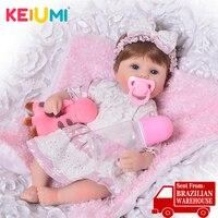 KEIUMI Cute Silicone Rebron Baby Dolls Newborn Baby 17 inch Realistic Princess 43 cm Kids Playmates Baby Reborn Fashion DIY Toys