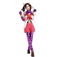 Brdwn LOL Star Guardian Womens Lux Jinx Janna Lulu Ahri Cosplay Costume Sailor dress school uniform