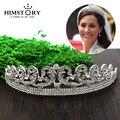 Calidad superior de Lujo del Clásico de Novia Europeo Rhinestone crystal Nupcial Corona de La Tiara Del Pelo accesorios del vestido de boda