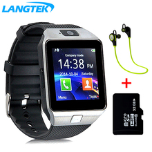 Ограниченное предложение LANGTEK Smart Watch DZ09For Ios Android phone Support Multi languages  With Camera Bluetooth Smart Watch Pedometer SIM Card