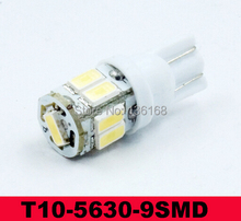 Free Shipping T10 Samsung 5630 SMD 9 LED BRIGHTEST White Side Wedge Car Light Bulb W5W