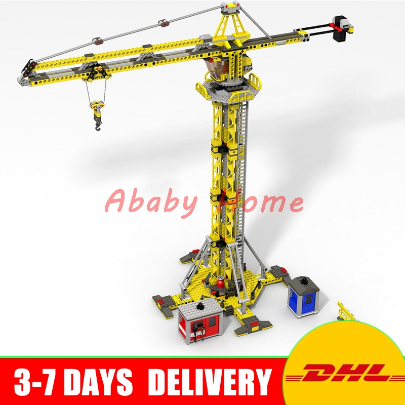 DHL Lepin 02069 Genuine 778Pcs City Series The Building Crane Set 7905 Building Blocks Bricks Funny Toys DIY Boy`s Gift ynynoo lepin 02043 stucke city series airport terminal modell bausteine set ziegel spielzeug fur kinder geschenk junge spielzeug