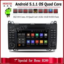 1024X600 Android 5.1 Quad Core RK3188 Автомобильный DVD Для Benz Sprinter W169 W245 Viano Vito W639 W906 с WI-FI GPS Навигации Радио
