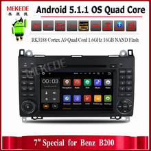1024X600 Android 5.1 Quad Core RK3188 Car DVD For Benz Sprinter W169 W245 W906 Viano Vito W639 with WIFI GPS Navigation Radio