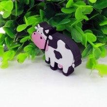 Лидер продаж корова ручка привода Usb флэш-накопитель 8 Гб оперативной памяти, 16 Гб встроенной памяти, 32 ГБ, 64 ГБ, 4 Гб, карта памяти молока животных флеш-накопитель Mini прекрасный подарок накопитель, для скачивания