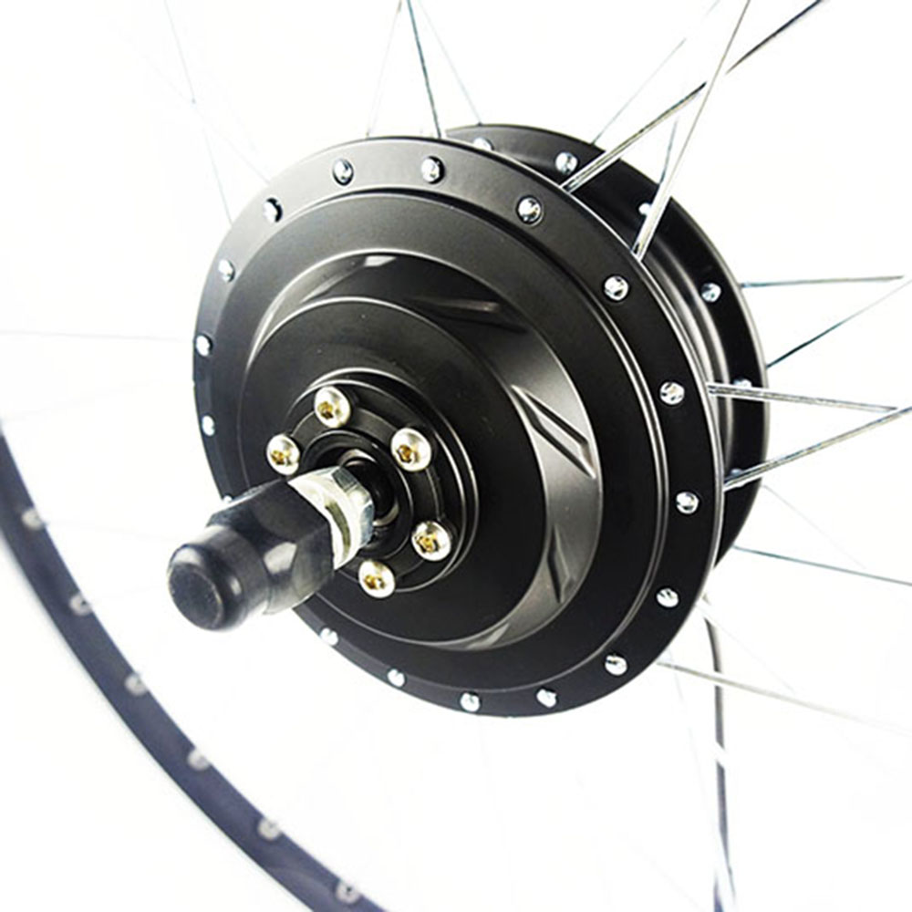 Okfeet ebike conversion kit 36V/48V 450W Front wheel hub motor with spoke and rim 4inches bldc hub motor with tyre hall sensor and eabs function enable for electric scooter ebike motorycle front or rear driven