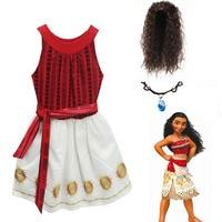 Kids Moana Girl Dresses Striped Bohemian Clothes Summer Vaiana Dress Girls Costume Elas Anna Children Clothing