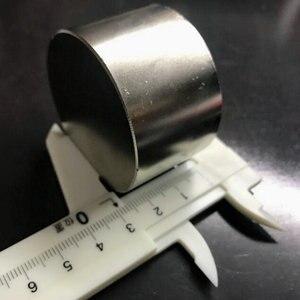 Image 2 - 1 adet N52 Dia 50x30mm sıcak satış yuvarlak mıknatıs süper güçlü nadir toprak neodimyum manyetik toptan 50*30mm ücretsiz kargo