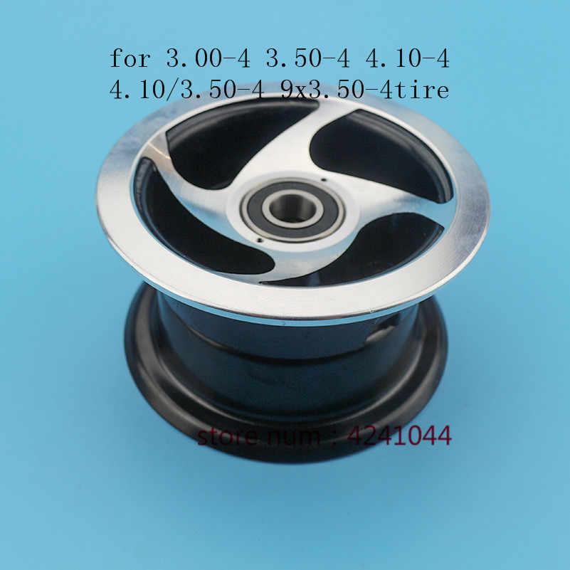 Skuter Listrik 3.00-4 3.50-4 4.10-4 4.10/3.50-4 9x3. 50-4 ''Roda Rim 4 Inch Paduan 6202 Bearing Hub Fit Mini Moto, ATV, & Go Kart