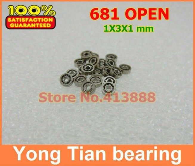 10pcs 681 Metal Open Ball Bearing Miniature Bearings 1x3x1 mm