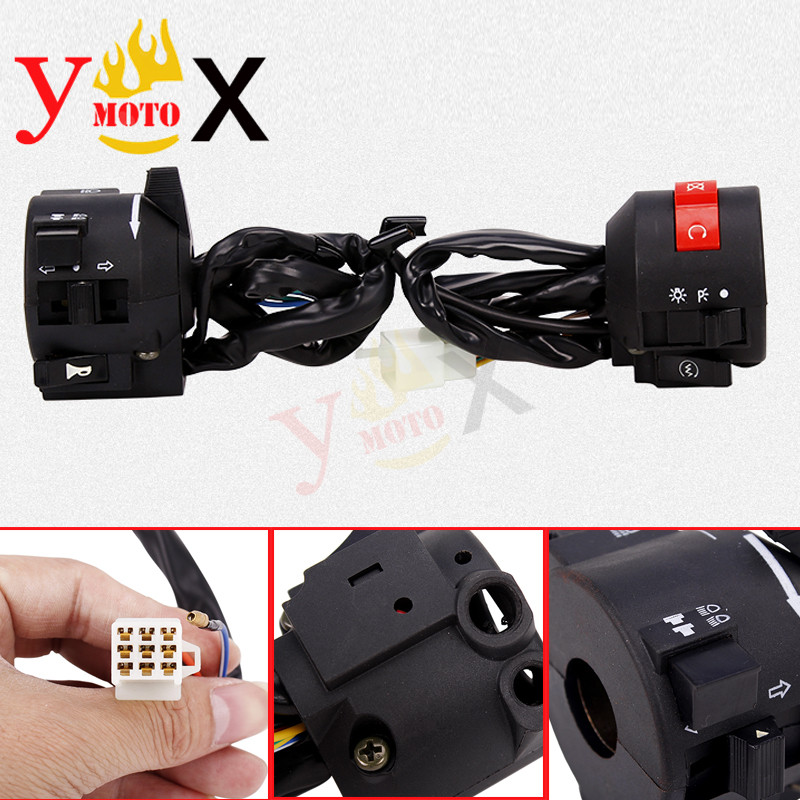 Motorcycle Left/Right Turn Signal Horn Handle Switch Controls Assembly For Honda Rebel CMX250 CA250 1996-2011 CMX250C 2003-2011