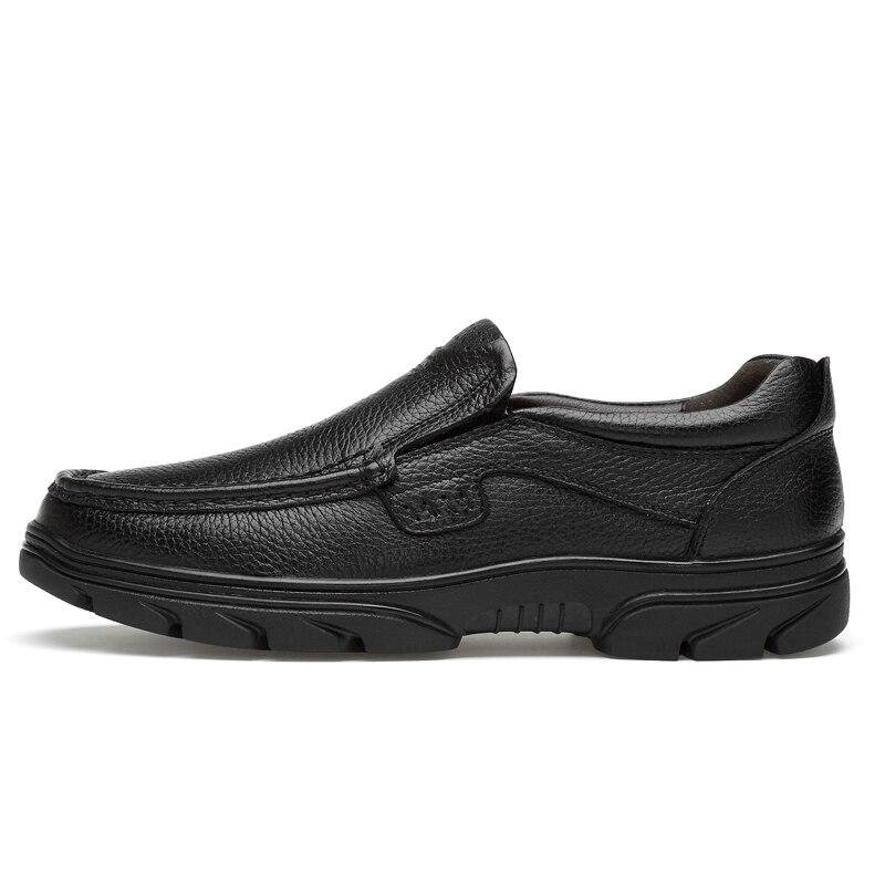 Mode Hommes Cuir Air En Résistant Appartements Mocassins Plein Élastique K3 Chaussures Black Homme Véritable Casual De Haute brown Caoutchouc qrrBwXHx