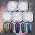 Shinning Nail Pigment Flakes Chrome Glitter Powders Gorgeous Manicure Nail Art Glitter Powder 5 Colors