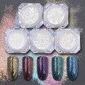 Shinning Uñas Copos De Pigmentos de Cromo Polvos Brillo Magnífico Manicure Nail Art Glitter Powder 5 Colores