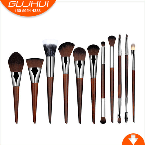 11 Make-up Brush Sets, Make-up Tools, Mahogany Brush Makeup, Foundation Brush, GUJHUI Rhyme 5 makeup brushes mermaid makeup brushes make up tools suit sets brush makeup gujhui rhyme color