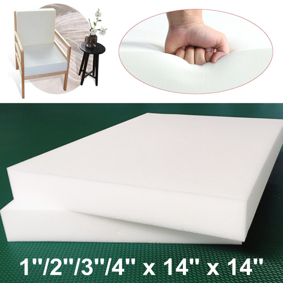 Square High-density Thickening Foam Mattress Hotel Student Mattress Cover Seat Foam Sheet Upholstery Cushion Replacement Pad