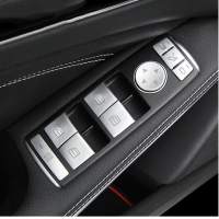 Car Accessories for Mercedes Benz A B C(W204) E(W212) GLA CLA GLK GL ML GLE class Car Window Lift Switch Button Cove stickers