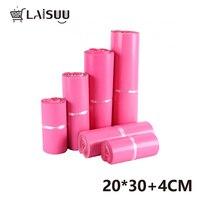 100 pcs 7.8x11.8 inch/20*30cm pink thick waterproof Self adhesive bag pink bag Color Poly Mailers Envelopes Bag