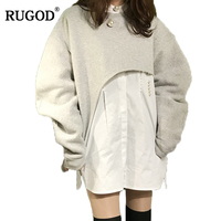 RUGOD Hot Sale Fashion Spring 2 Pieces Set Women Knitted Blouse And Pullover Women Tracksuit 2