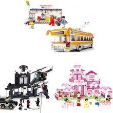 DIY Educational Toys for children Building Blocks restaurant for girl self-locking bricks Compatible with Lego